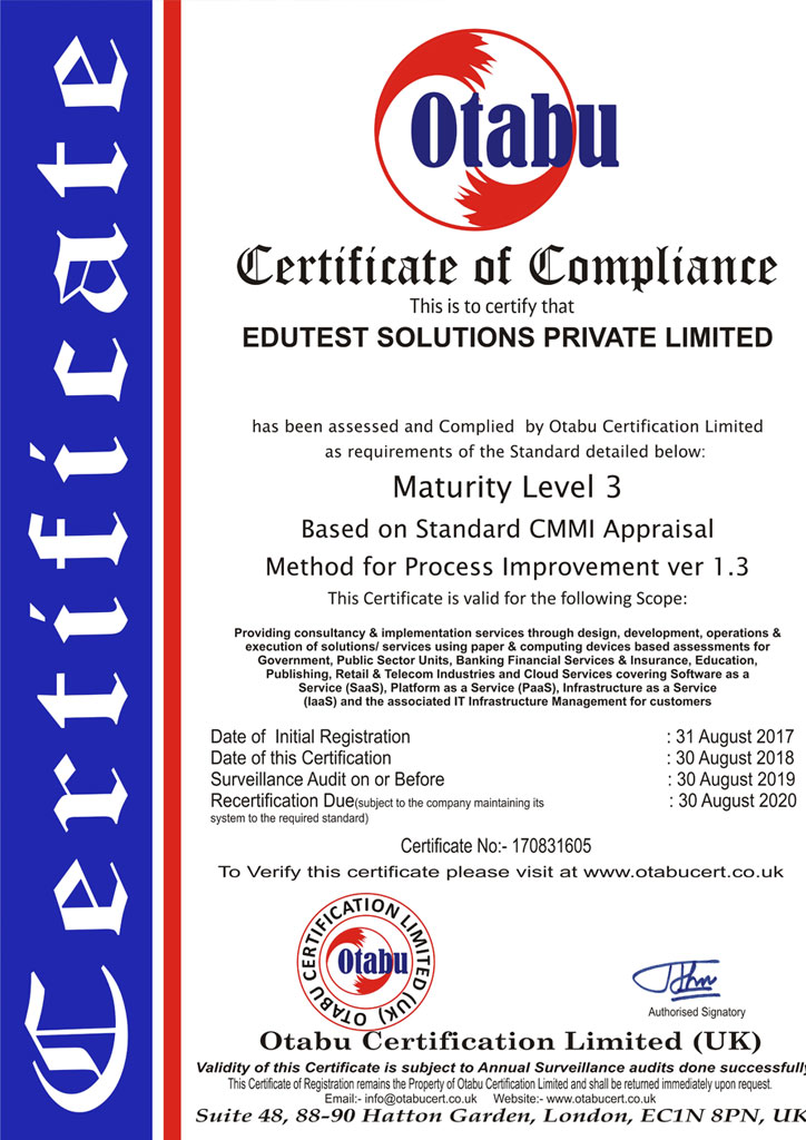 EDUTEST SOLUTIONS - Computed Based Exam Conducting Agency